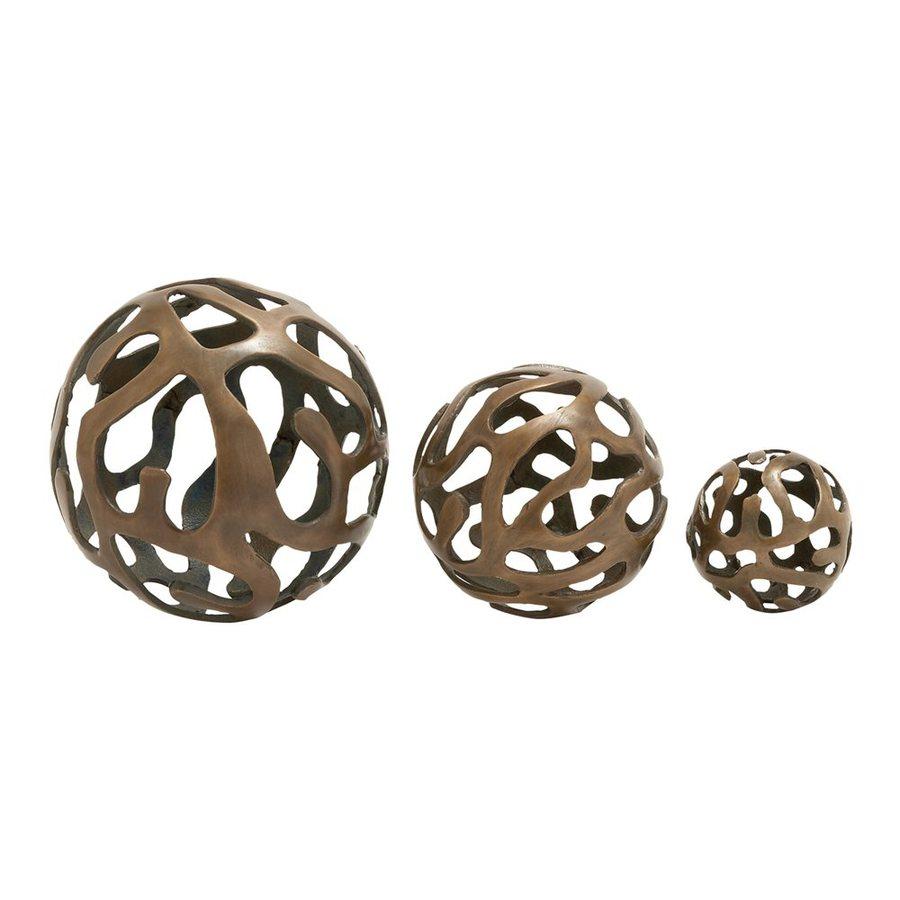 Woodland Imports Set of 3 Aluminum Decorative Balls