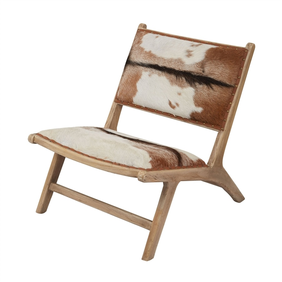 Dimond Home Goatskin Teak Accent Chair