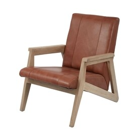 dimond home soft antique brown leather accent chair