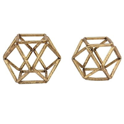 Stratton Home Decor Set Of 2 Metal Sphere Tabletop