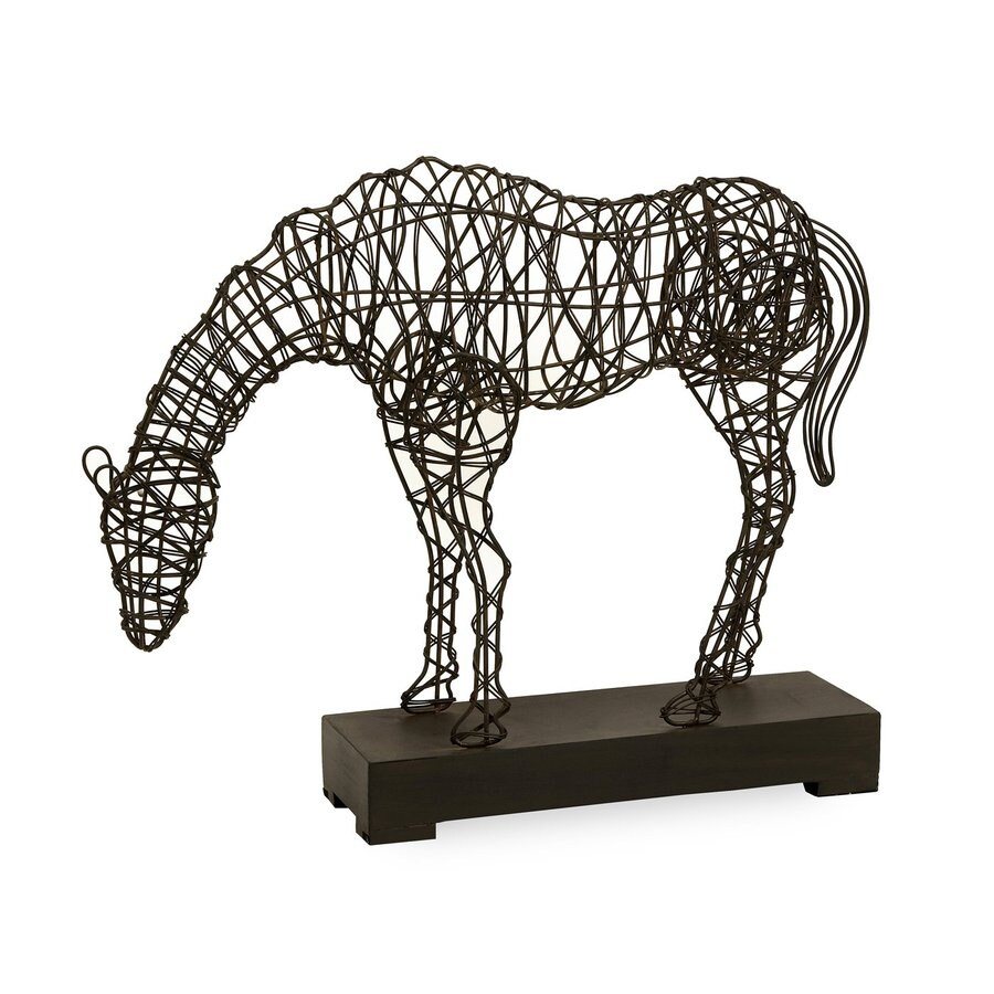 Imax Worldwide Woven Wire Horse Statue