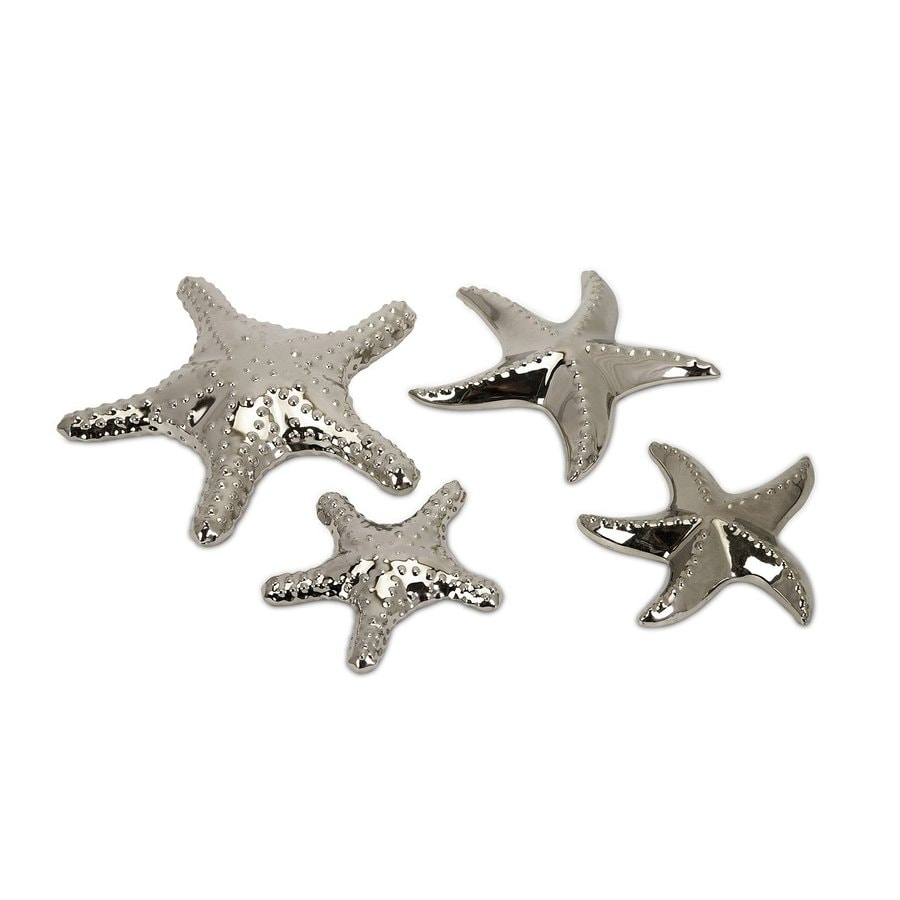 Imax Worldwide Set of 4 Ceramic Starfish Statues