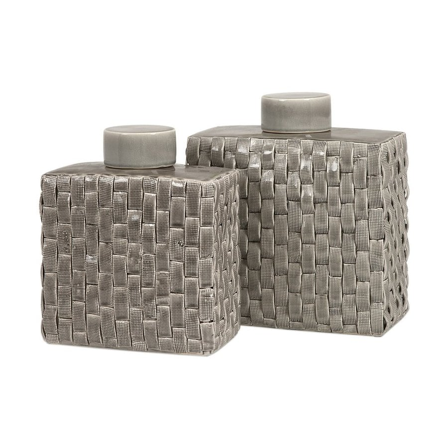 Imax Worldwide Set of 2 Ceramic Jars