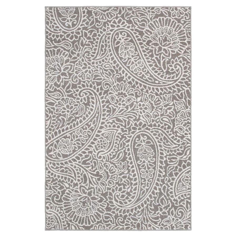 nuLOOM Margot Grey Rectangular Indoor Machine-Made Area Rug (Common: 5 x 7; Actual: 63-in W x 94-in L)