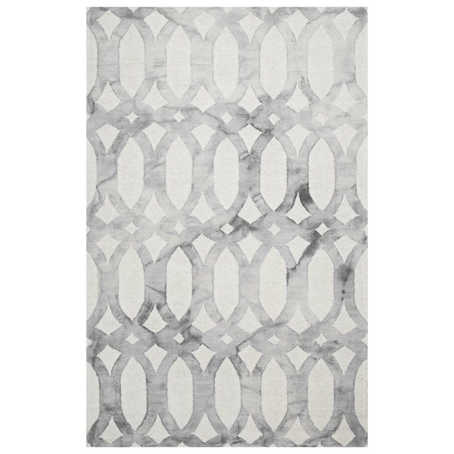 nuLOOM Nellie Light Grey Rectangular Indoor Area Rug (Common: 5 x 8; Actual: 5-ft W x 8-ft L)