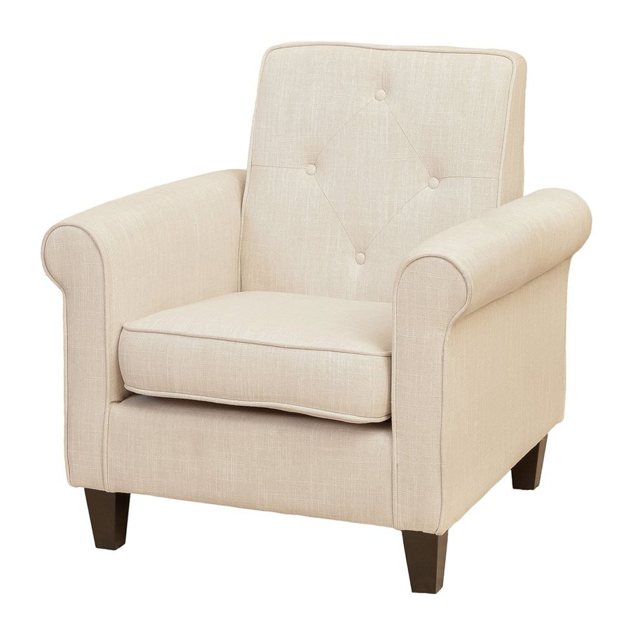 Best Selling Home Decor Isaac Light Beige Polyester Club Chair