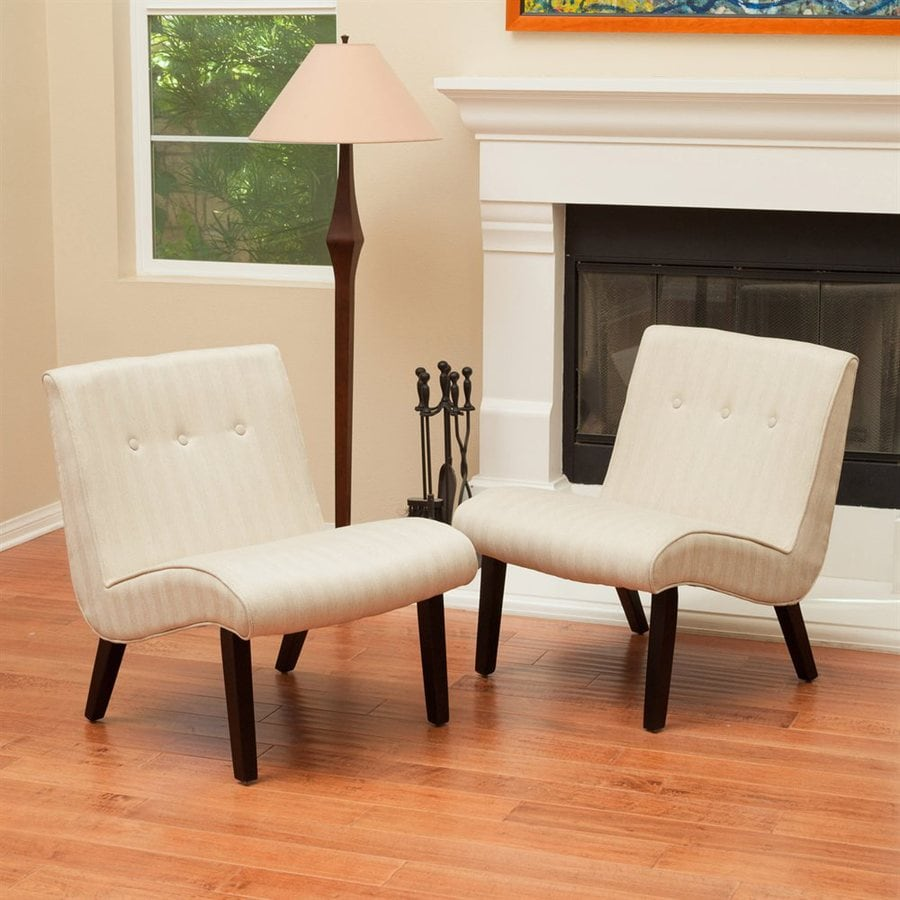 Best Selling Home Decor Bainbridge Oatmeal Stripe Cotton Blend Accent Chair