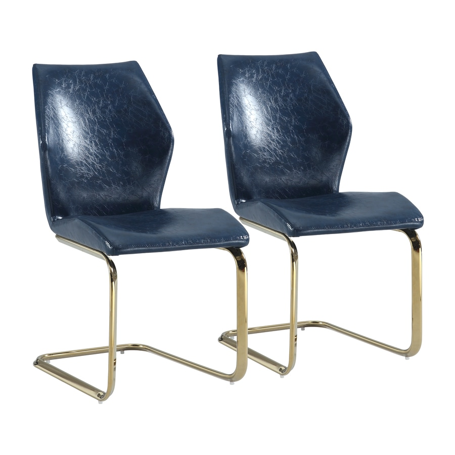 Chintaly Imports Set of 2 Nicole Blue Side Chair