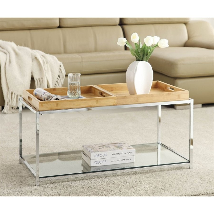Merveilleux Convenience Concepts Palm Beach Glass Coffee Table