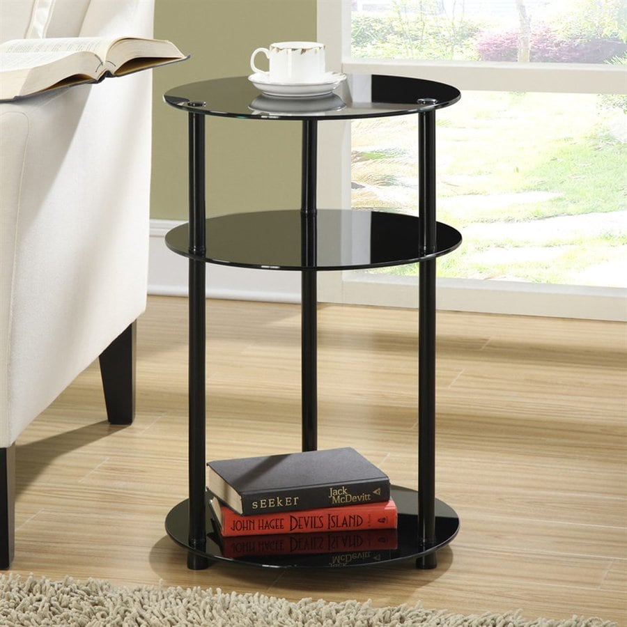 Convenience Concepts Black Metal Round End Table