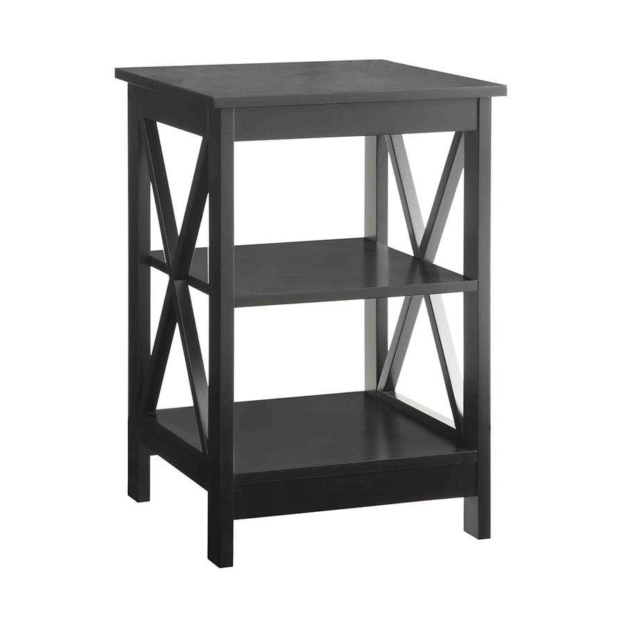 Convenience Concepts Oxford Black Composite Casual End Table