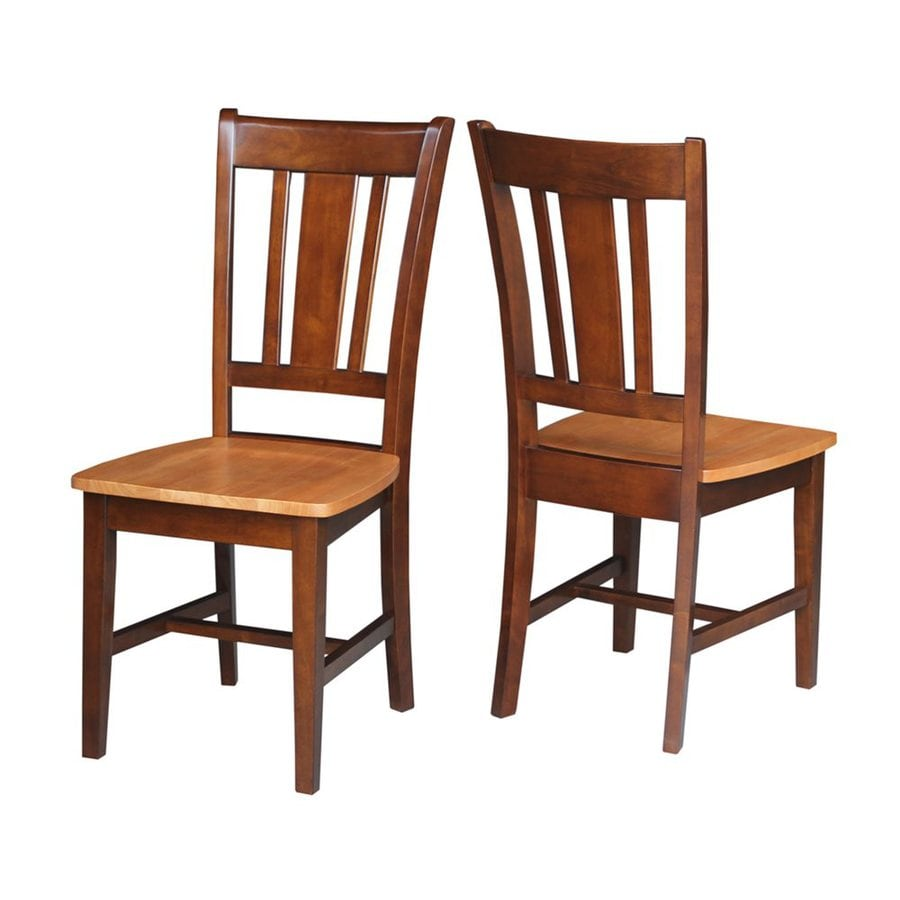 International Concepts Set of 2 San Remo Cinnamon/Espresso Side Chair