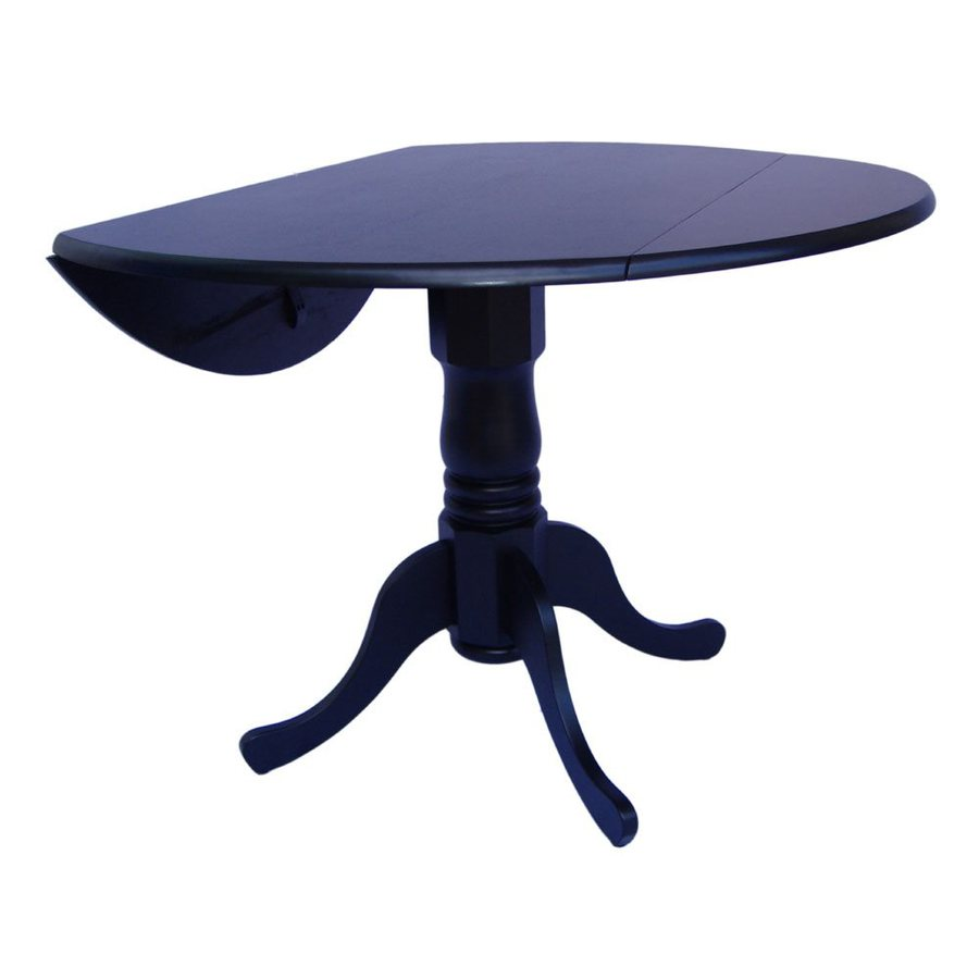International Concepts Black Round Dining Table