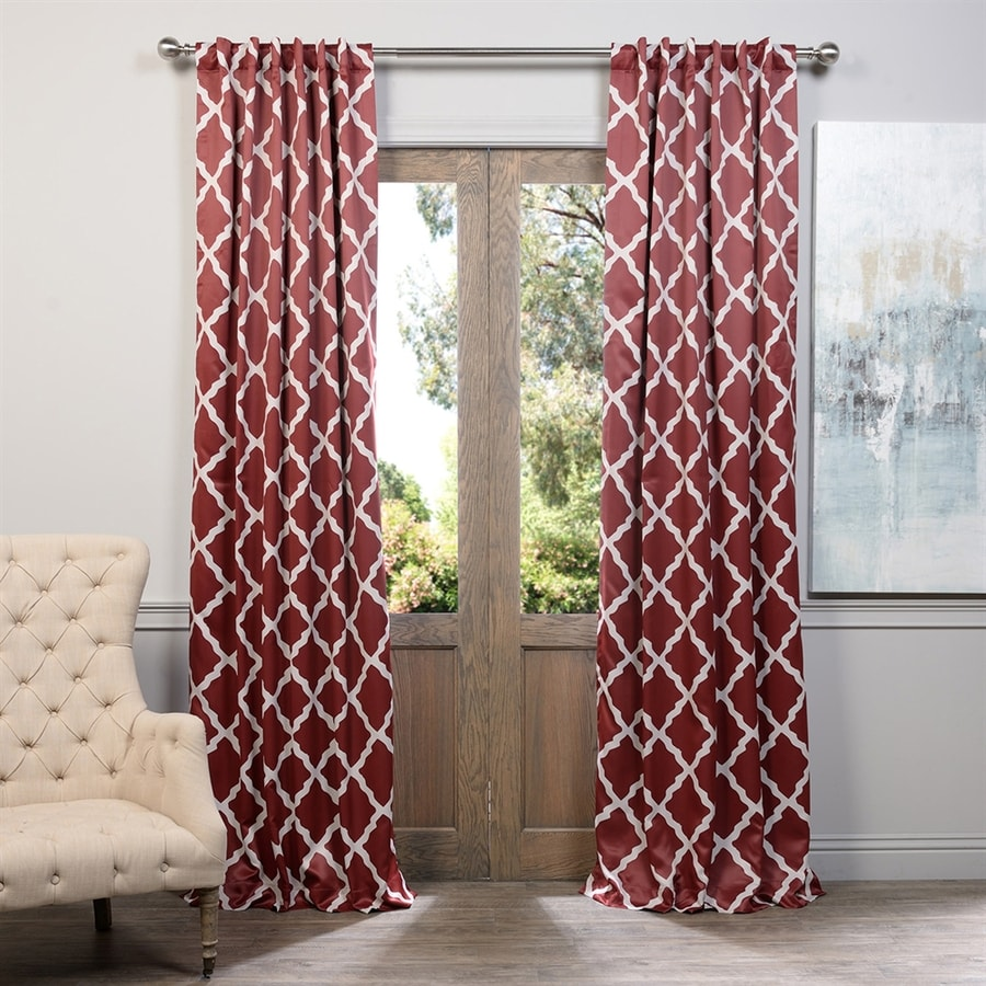 Exclusive Fabrics & Furnishing Trellise 120-in Polyester Rod Pocket Blackout Single Curtain Panel