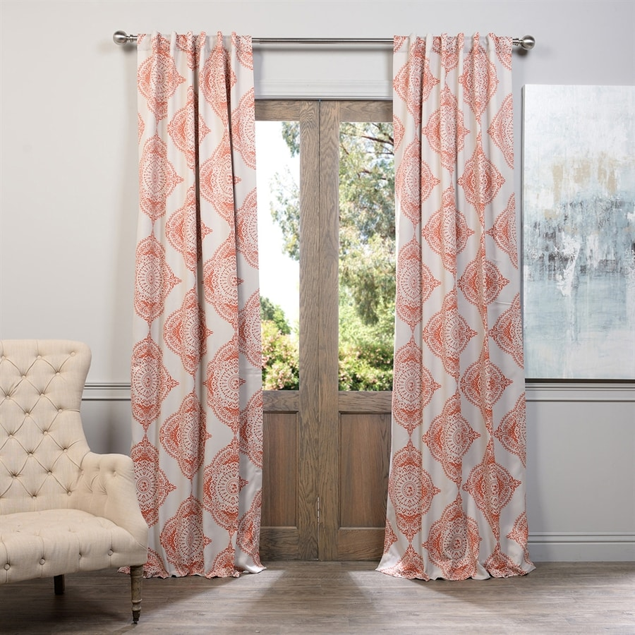 Exclusive Fabrics & Furnishing Henna 84-in Polyester Rod Pocket Blackout Single Curtain Panel