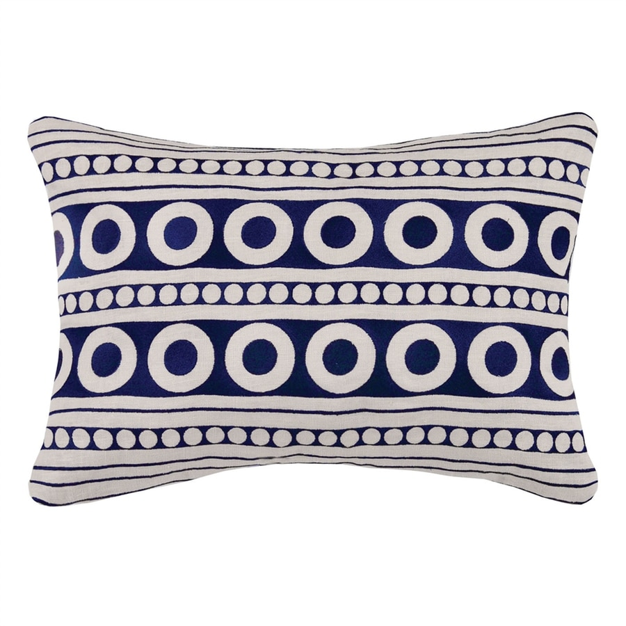Peking Handicraft 14-in W x 20-in L Indigo Rectangular Indoor Decorative Pillow