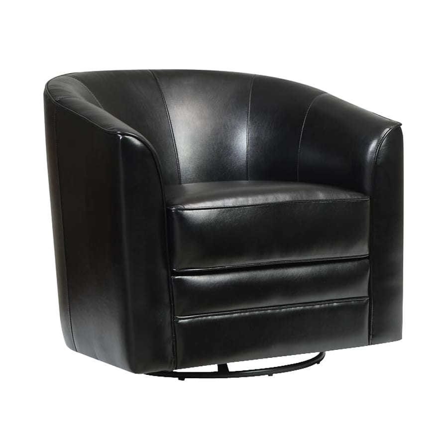 Emerald Home Furnishings Milo Black Bonded Leather