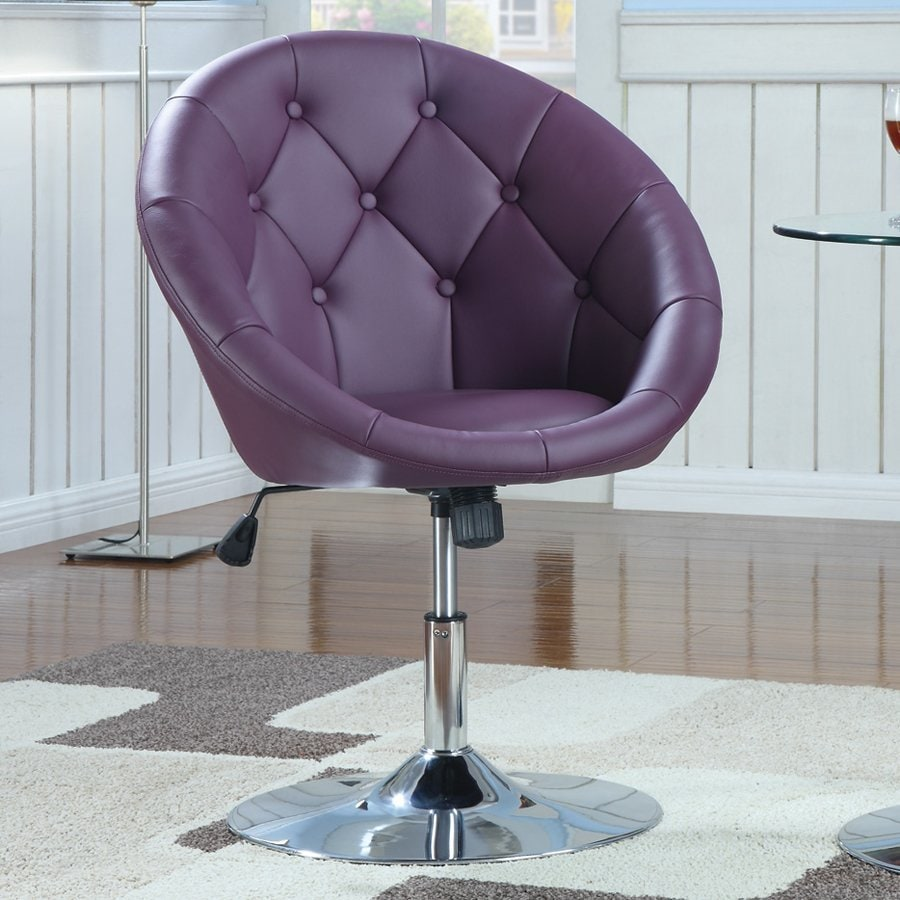 Coaster Fine Furniture Modern Purple Faux Leather Accent Chair