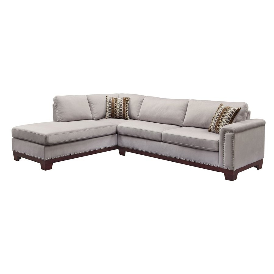 Coaster Fine Furniture Mason Blue Gray Velvet Sectional