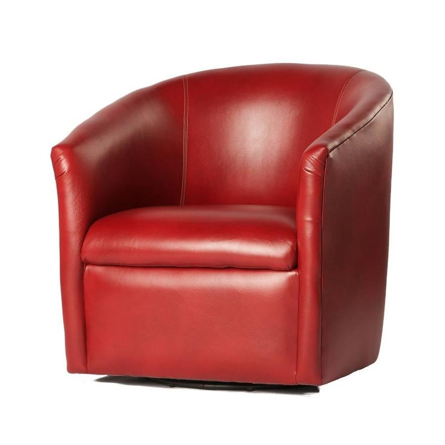 Comfort Pointe Draper Antique Red Polyurethane Accent Chair