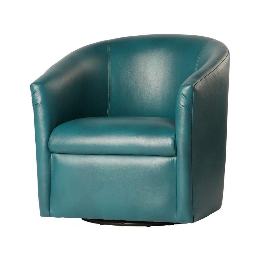 Comfort Pointe Draper Antique Teal Polyurethane Accent Chair