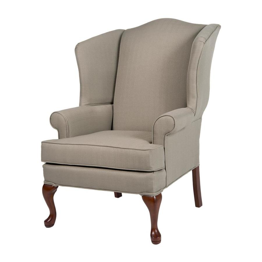 Shop comfort pointe erin beige polyester accent chair at lowes com