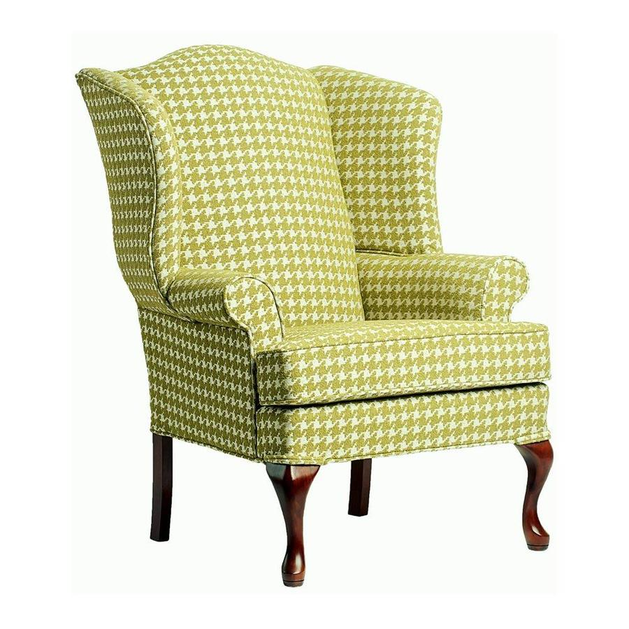 Comfort Pointe Leroux Lime Houndstooth Polyester Accent Chair