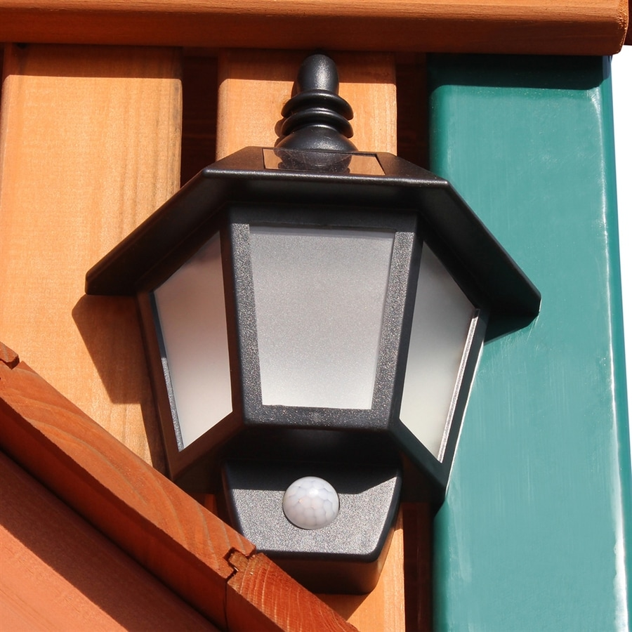 Gorilla Playsets 11-in H LED Solar Motion Activated Outdoor Wall Light