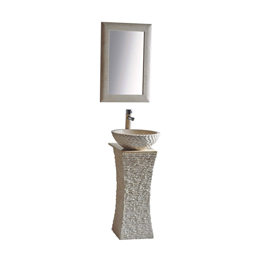 Stone Pedestal Sink : ... -in H Galala Marble Stone Pedestal Sink (Drain Included) at Lowes.com