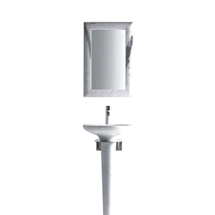 36 Pedestal Sink : ... Zeus 36-in H Carrera White Marble Stone Pedestal Sink (Drain Included