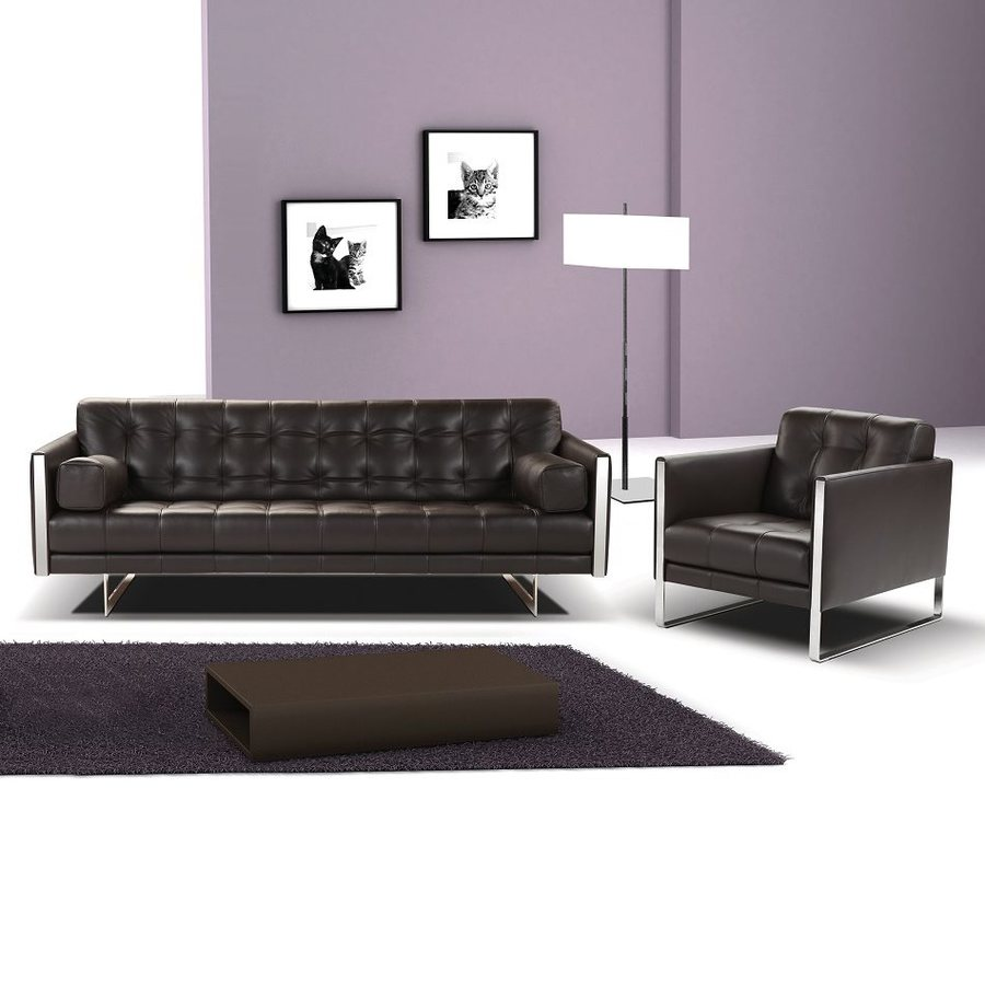 J&M Furniture Juliet Mocha Leather Sofa