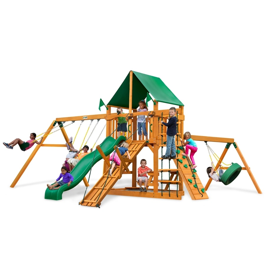 Gorilla Playsets Fronteir Residential Wood Playset with Swings