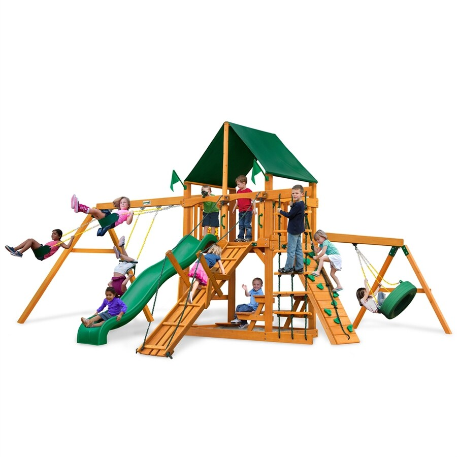 Shop Gorilla Playsets Fronteir Residential Wood Playset ...