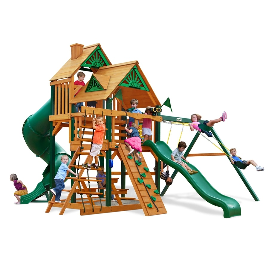 Gorilla Playsets Great Skye I Residential Wood Playset with Swings
