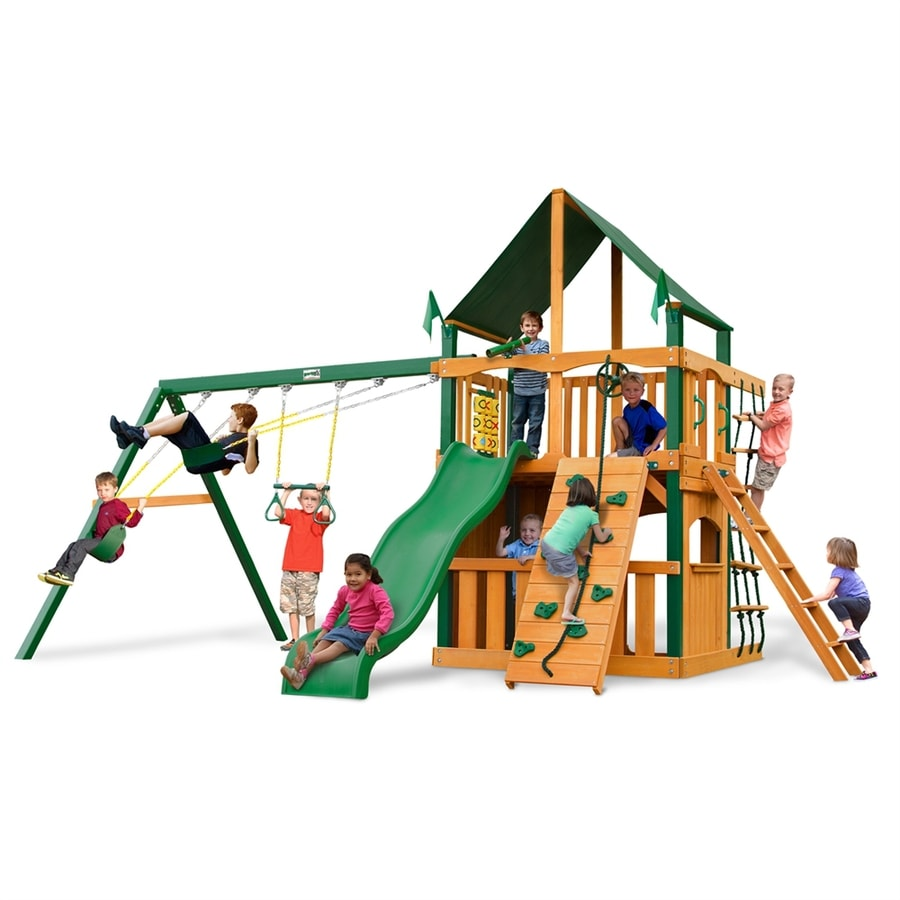 Shop gorilla playsets chateau clubhouse residential wood for Gorilla playsets