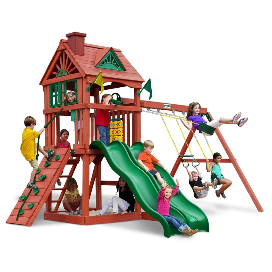 Shop gorilla playsets double down residential wood playset for Gorilla playsets