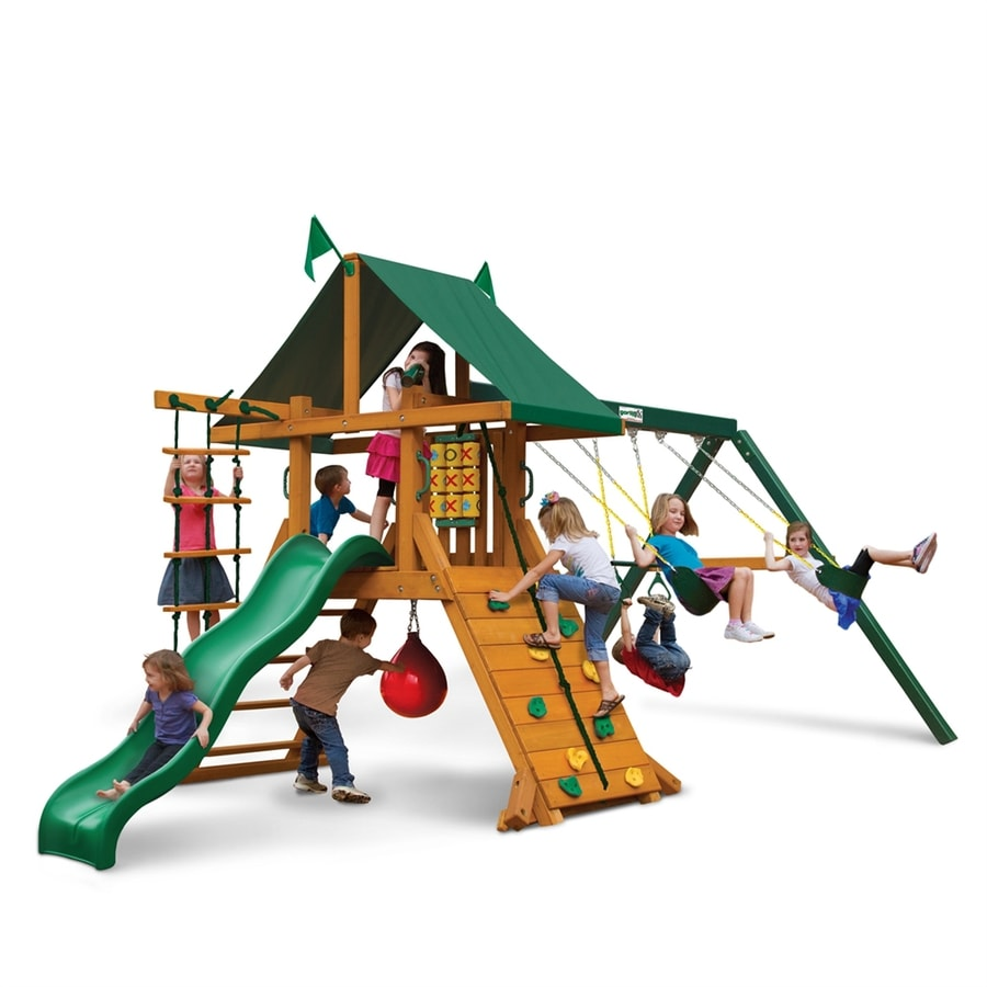 Gorilla Playsets High Point Residential Wood Playset with Swings