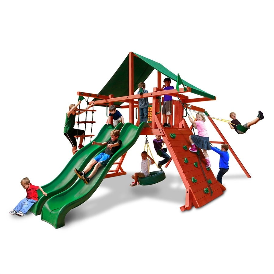 Gorilla Playsets Sun Valley Extreme Residential Wood Playset with Swings