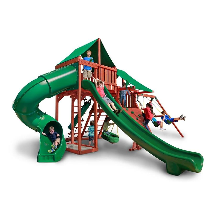 Gorilla Playsets Sun Valley Deluxe Residential Wood Playset with Swings