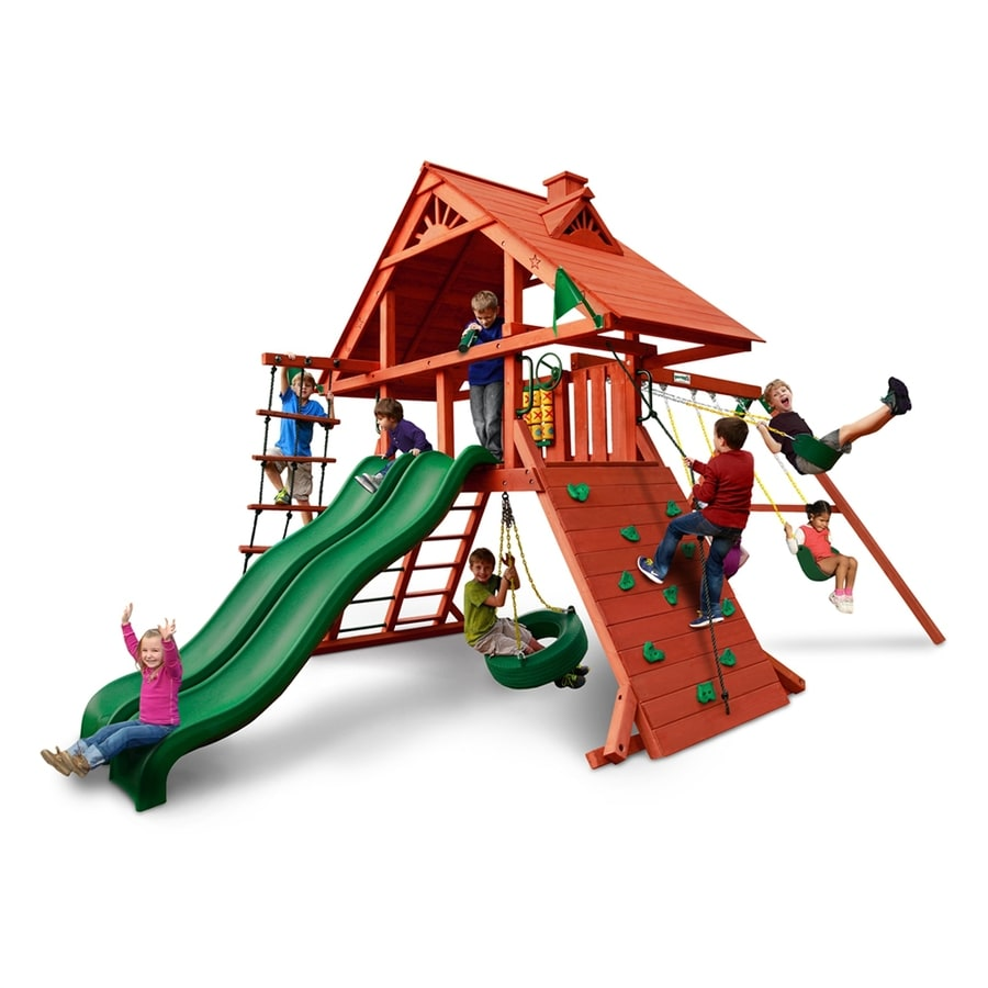 Gorilla Playsets Sun Palace Extreme Residential Wood Playset with Swings
