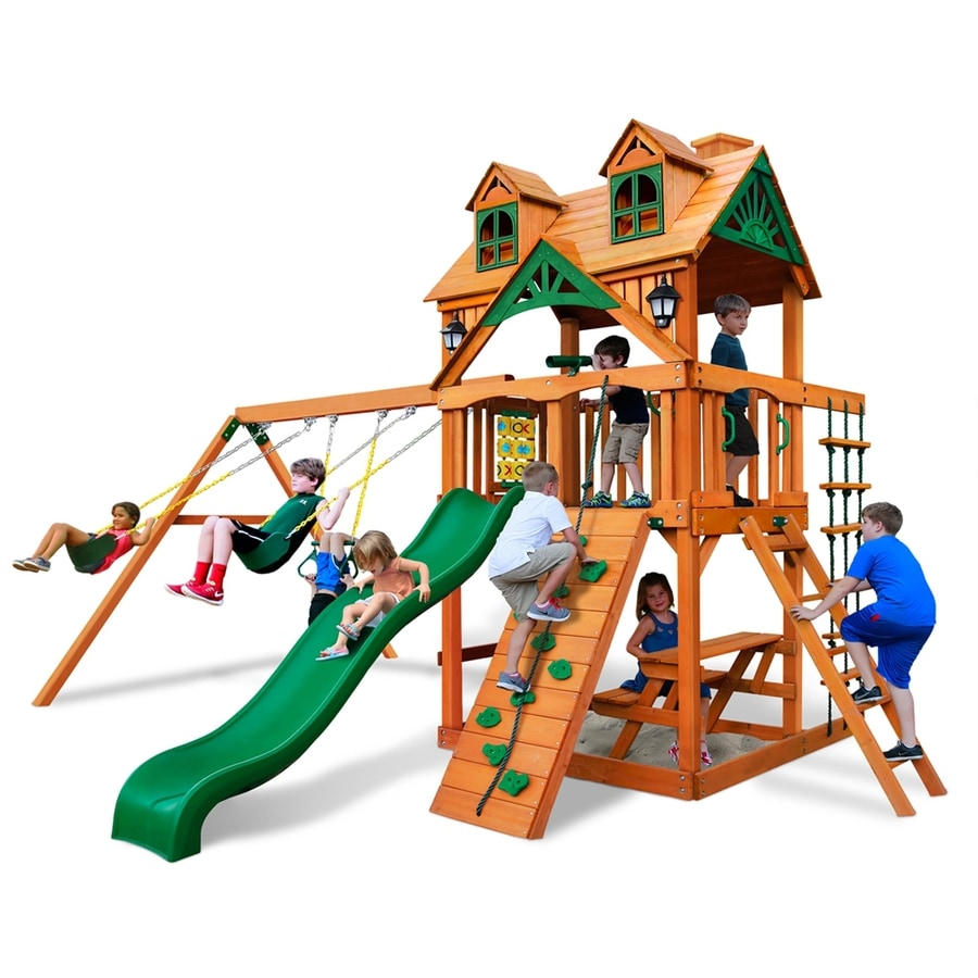 Gorilla Playsets Malibu Residential Wood Playset with Swings