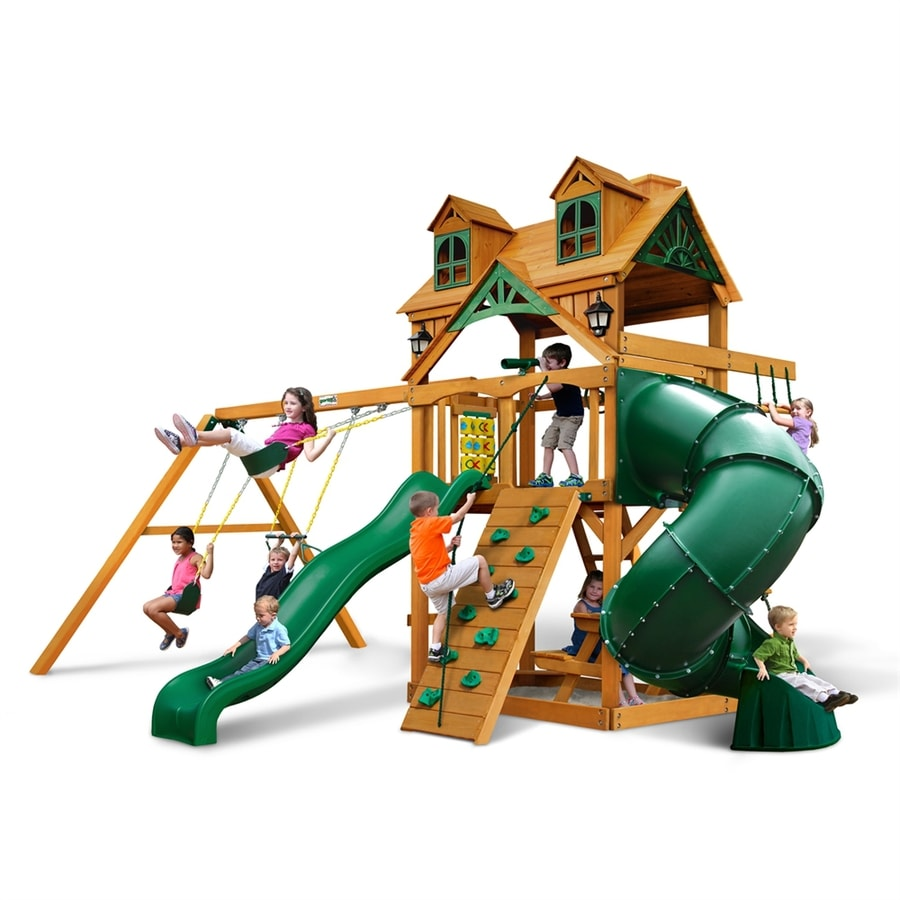 Gorilla Playsets Malibu Extreme Residential Wood Playset with Swings