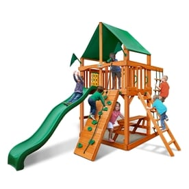 gorilla playsets chateau tower residential wood playset - Lifetime Adventure Tower Playset
