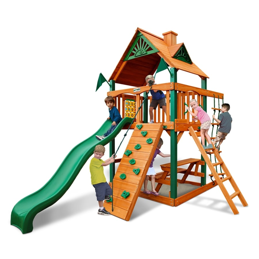 Gorilla Playsets Chateau Tower Residential Wood Playset