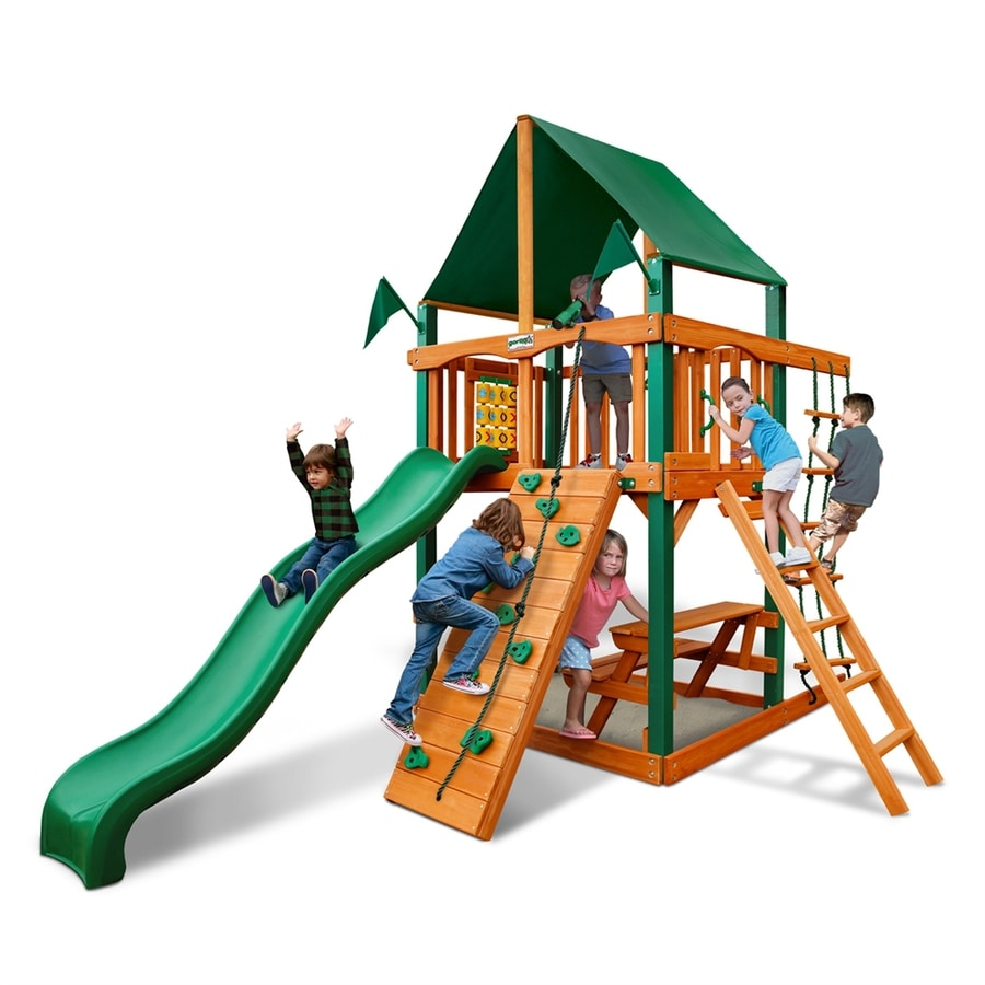 Shop gorilla playsets chateau tower residential wood for Gorilla playsets