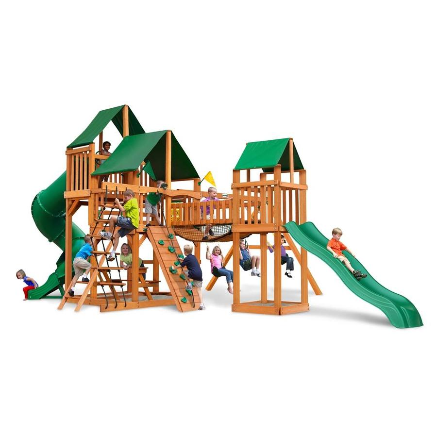 Gorilla Playsets Treasure Trove Residential Wood Playset with Swings