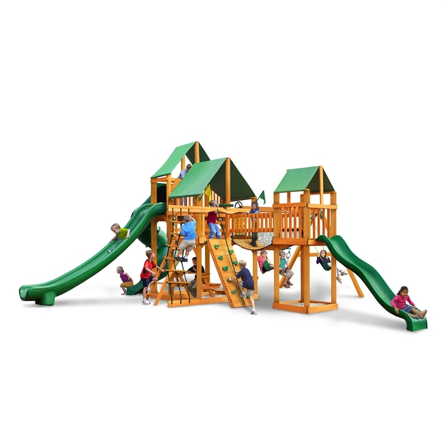 Shop gorilla playsets treasure trove ii residential wood for Gorilla playsets
