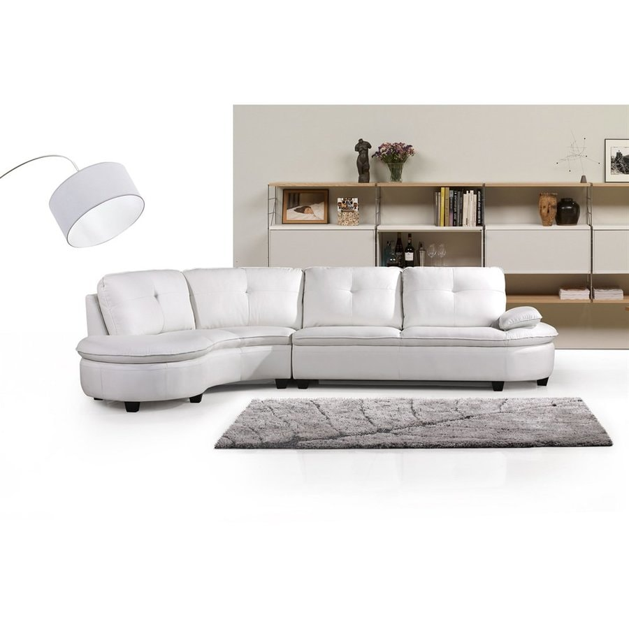 Shop New Spec Cosmo White Bonded Leather Sectional at Lowes.com