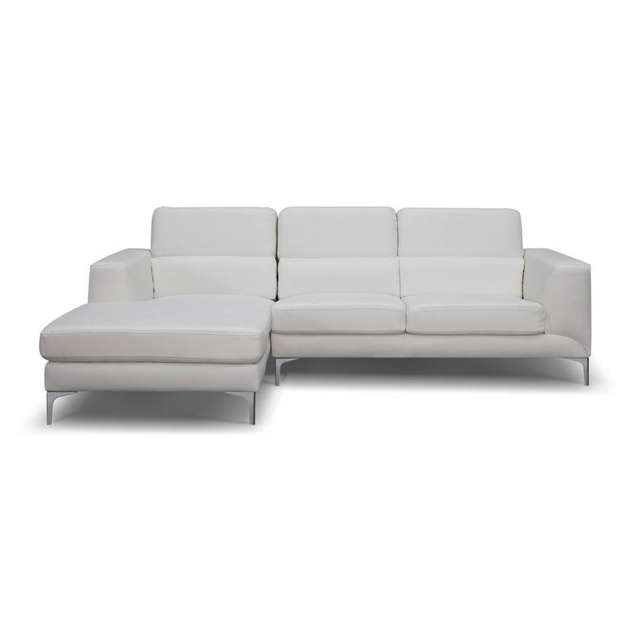 Whiteline Imports Sydney White Faux Leather Sectional