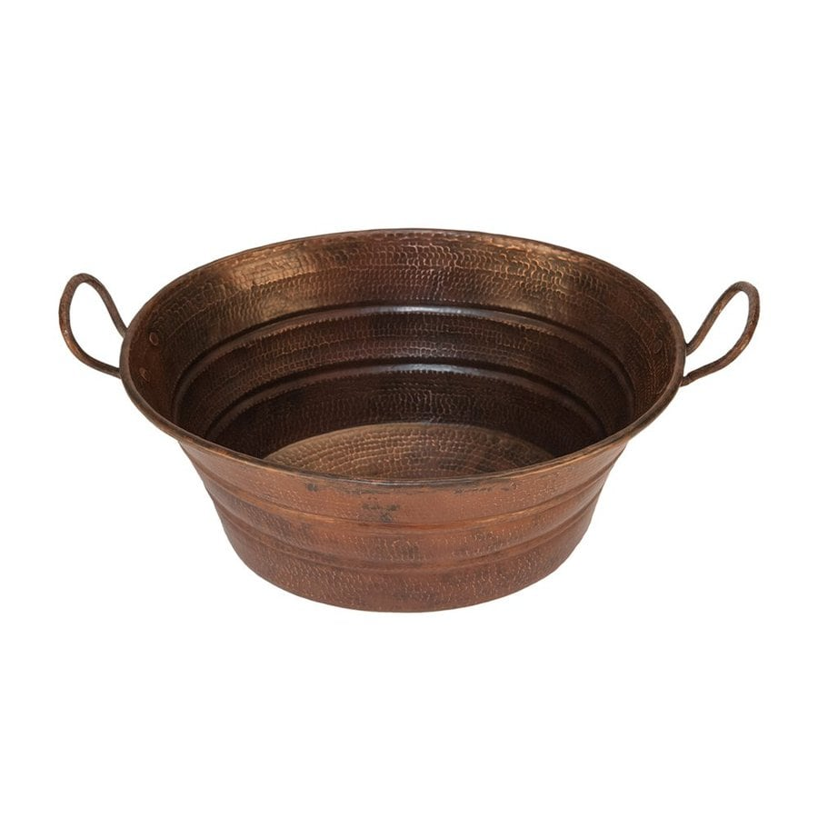 Premier Copper Products Oil-Rubbed Bronze Copper Vessel Oval Bathroom Sink